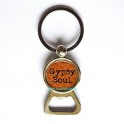 "Bottle opener Keychain ""Gypsy Soul"" - Boho Chic - Gypsy Bottle opener Keychain- Gypsy Soul Bottle opener Keychain- Bohemian Jewellery - Hippy Jewellery - Free Spirit Bottle opener Keychain"