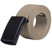 HDE Mens Military Web Belt Canvas Adjustable Style with Metal Buckle 130cm Long