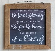 Having Someone To Love Is Family Framed Sign   by Urban Legacy