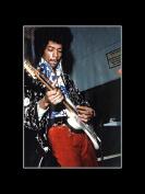 Jimi Hendrix - With His Guitar 1969 Mini Poster - 40.5x30.5cm