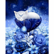 5D DIY Diamond Painting,NACOLA Rhinestone Pictures Of Crystals Embroidery Kits Arts Crafts & Sewing Cross Stitch-Cat