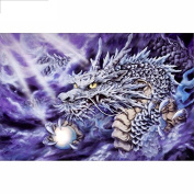 5D DIY Diamond Painting,NACOLA Rhinestone Pictures Of Crystals Embroidery Kits Arts Crafts & Sewing Cross Stitch-Dragon