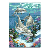 5D DIY Diamond Painting,NACOLA Rhinestone Pictures Of Crystals Embroidery Kits Arts Crafts & Sewing Cross Stitch-Free Fish