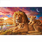 5D DIY Diamond Painting,NACOLA Rhinestone Pictures Of Crystals Embroidery Kits Arts Crafts & Sewing Cross Stitch-Lion
