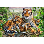 5D DIY Diamond Painting,NACOLA Rhinestone Pictures Of Crystals Embroidery Kits Arts Crafts & Sewing Cross Stitch-Tiger 2