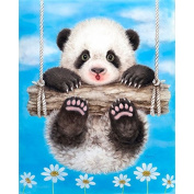 5D DIY Diamond Painting,NACOLA Rhinestone Pictures Of Crystals Embroidery Kits Arts Crafts & Sewing Cross Stitch-Panda