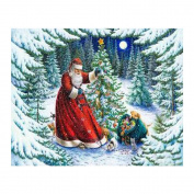 "FKUO 5D DIY Diamond Painting ""Christmas Eve gift "" Embroidery 2.8mm Round Diamond embroidery Fashion home decor"