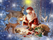 "FKUO 5D DIY Diamond Painting "" Santa Claus "" Embroidery 2.8mm Round Diamond embroidery Fashion home decor"