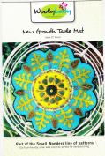 New Growth Table Mat Pattern from WoolyLady Wool Applique 30cm diameter