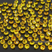 2,000 pcs 4.5mm Diamond Table Confetti Acrylic Wedding Party Decor Crystals Vase Filler Gold Orange