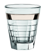 Barski European Glass - Double Old Fashioned Tumbler Glasses - with Platinum Band - Set of 6 - 340ml - Made in Europe
