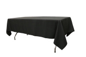 Your Chair Covers Polyester Tablecloths, Black, 150cm x 260cm Rectangular