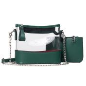 Jyouhin Clear Purse Women's Cross-body Bag PVC Transparent Messenger Bag for Women, NFL Stadium Approved