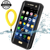 Temdan for Samsung Galaxy S7 Edge Waterproof Case with Kickstand and Floating Strap IP68 Waterproof Shockproof Protective Clear Case for Galaxy S7 Edge