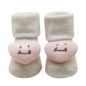 Unisex Baby Kids Toddler Comfortable 3D Cute Cotton Sock Slippers Warm Ankle Socks Shoes 0-12 Months by SMYTShop