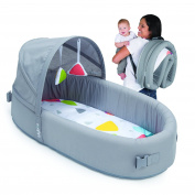 Bassinet to-go Metro - Portable Infant Bed Folds Into Backpack - With Activity Bar And Rattle Toys