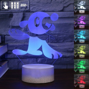 Gift Ideas Seal Lamp Night Lights 3D Illusion Lamp Animal Light Led Desk Lamps Unique Anniversary Gifts for Baby Home Decor Office Bedroom Party Decorations Nursery Lighting 7 Colour Crackle Paint Base