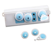 PAPAIT Electric Outlet Plugs covers Baby Proofing ( 6 Plug + 1 Keys) baby safety ElectricalProtector Caps Kit for Toddlers child
