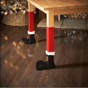 Christmas Chair Leg Foot Cover Table Decoration for Party Dinner Christmas Pack of 4pc