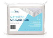 Extra Thick Mattress Storage Bags for Moving and Storing – Clear 4 MIL Plastic - Protects Bedding and Furniture From Moisture, Dirt, Bugs and Pests - 94 x 96 King, California King - By CalmNite