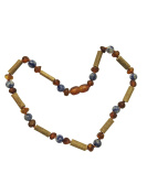 Baltic Amber and Hazelwood Necklace. Colic, Reflux and Teething. Individually knotted. For babies and toddlers.