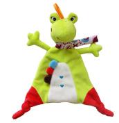 Naovio Baby Toddler Toy Cute Cartoon Frog Animal Soft Teething Security Blanket Comforter Blanekts