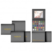 MISKOS 30 Colours Pressed Glitter Neon Eyeshadow Palette Makeup Set, Mineral Foiled Shimmer Eyeshadow Pallet Flash Waterproof Kit, 30ml