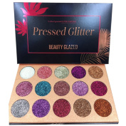 HUBEE 15 Colour Diamond Pressed Glitter Eyeshadow Palette,Professional Highly Pigmented and Long-Lasting Mineral Shimmer Makeup Pallet