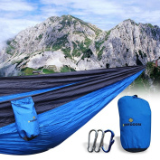 bOutdoors Lightweight Portable Nylon Parachute Hammock with Straps & Steel Carabiners