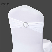 LoveHomeBaby 50PCS Spandex Chair Sashes Bows Elastic Chair Bands With Buckle Slider Sashes Bows For Wedding Decorations Without Covers