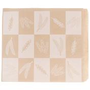 TableTop King 23cm x 25cm Natural Kraft Artisan Print Wire Cone Basket Liner / Deli Wrap / Double Open Bag - 1000/Case