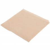 TableTop King 18cm x 18cm Natural Kraft Basket Liner / Deli Wrap / Double Open Bag - 2000/Case