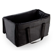 Insulated Food Delivery Bag Pan Carrier Black Nylon
