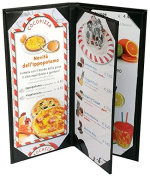 4 Pcs of Menu Cover 12cm X 28cm Inches, 3panel 4view,Sold By Case