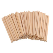 eBoot Unfinished Natural Wood Craft Dowel Rods 100 Pack