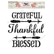 Words quote stencil Grateful Thankful Blessed stencil for craft and home decoration CFT18