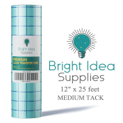 Bright Idea 30cm x 7.6m CLEAR Transfer Paper Tape Roll with Grid - Self Adhesive Application Tape Roll for Perfect Alignment of Silhouette Cameo, Cricut Adhesive Vinyl for Decals, Signs, Walls,Glass
