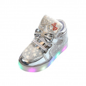SMYTShop Kids Toddler Baby LED Light Up Shoes Girl's Colourful Sneakers Luminous Casual Light Shoes