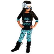 GBSELL 2PCS Toddler Kids Baby Girls Boss T-shirt Dress+ Long Pants Clothes Set