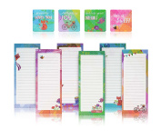 Charming Magnetic Notepads & Inspirational Refrigerator Magnets – To Do List Notepad Perfect Teacher Supplies, Housewarming Gifts, Thank You Gifts – 6 Note Pads + 4 Fridge Magnets by PRTSupply