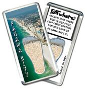 "Panama City, FL ""FootWhere"" Souvenir Fridge Magnet. Made in USA"