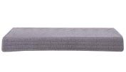 Window Sill Cushion, Anti-slip, Cotton Velvet, Perfect for Winter [Grey]