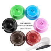 BRBHOM Colourful Dolce Gusto Refillable Capsules Pods Rusable Coffee Filters Set of 6