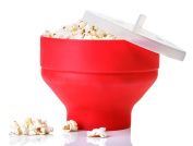 Midream Collapsible Silicone Popcorn Maker Microwave Pop Corn Popper Bowl with Lid Microwave Kitchen Bakingwares DIY Popcorn Bucket