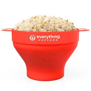 PopUp Silicone Popcorn Popper - Collapsible Silicone Popcorn Popping Bowl with Handles - Family Friendly BPA-free Microwave Popcorn Maker