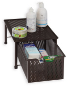 SimpleHouseware Stackable Cabinet Basket Drawer Organiser, Bronze