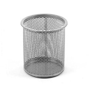 Ybmhome Office Round Desk Steel Mesh Pencil Cup Pen Holder Silver 2210