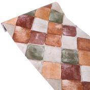HOYOYO 43cm x 200cm Self-Adhesive Shelf Liner, Moisture Proof Drawer Paper Shelf Liner Mildew Proof Antifouling Contact Paper,Diamond Brick