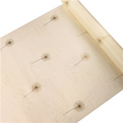 HOYOYO 43cm x 200cm Self-Adhesive Contact Paper, PVC Moisture Proof Drawer Paper Shelf Liner Mildew Proof Antifouling Wall Sticket, Beige Dandelion