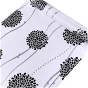 HOYOYO 43cm x 200cm Self Adhesive Shelf Liner, Moisture Proof Drawer Paper Shelf Liner Mildew Proof Antifouling Wall paper, White Black Hydrangea